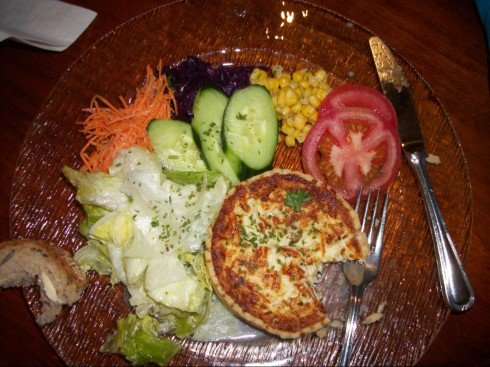Swiss Meal--Quiche and Salad