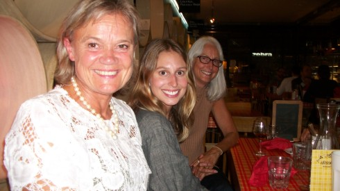 Ulla Olson, Rebecca, and Rhonda