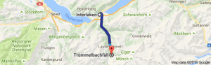 Interlaken to Trummelbachfalle