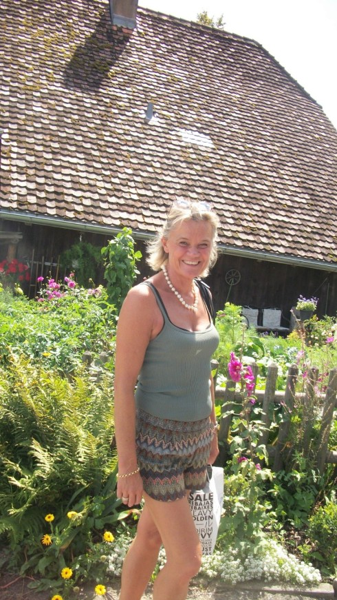 Ulla Olson on the clim up Gurten.jpg