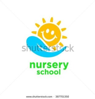 stock-vector-nursery-school-logo-design-387701350
